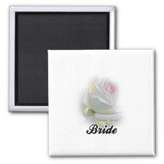 Bride 2 Inch Square Magnet