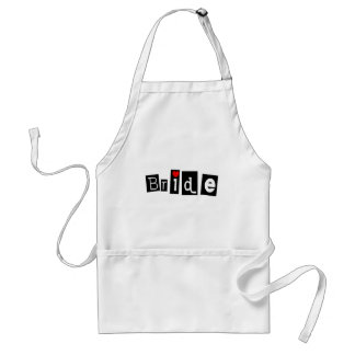 Bride Adult Apron