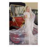 Bride And Antique Car Poster