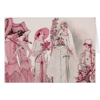 Bride and attendents card