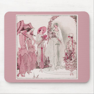 Bride and attendents mouse pad