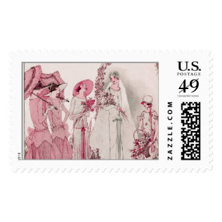 Bride and attendents stamps