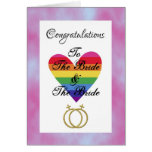 bride and bride gay lesbian Congratulations Greeting Card