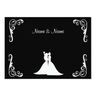 Bride and Bride Lesbian Elegant Wedding Invitation