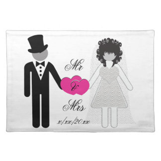 Bride and Bride Mrs and Mrs Cloth Place Mat