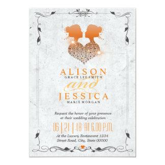 Bride and Bride - Two Brides Wedding  - Lesbian Card