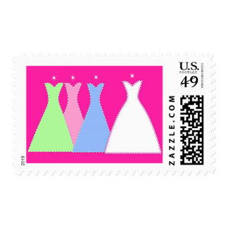 Bride and Bridesmaids Sparkle Postage Stamp