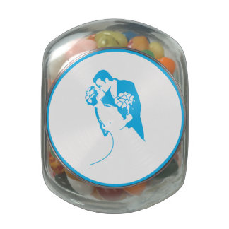 Bride and Groom 01 LBWCF Jelly Belly Candy Jar