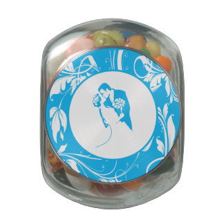Bride and Groom 01 LBWCP Jelly Belly Candy Jar
