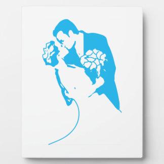 Bride and Groom 01 Light Blue Plaque