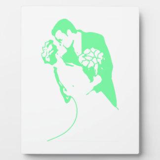 Bride and Groom 01 Light Green Plaque