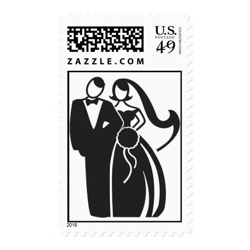Bride and Groom 01 Postage