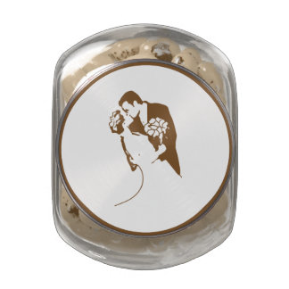 Bride and Groom 01 SWCF Glass Candy Jars
