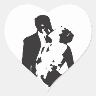Bride and Groom 2 Heart Sticker