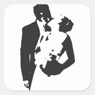 Bride and Groom 2 Square Sticker