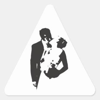 Bride and Groom 2 Triangle Sticker