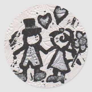 Bride and Groom 3 Stickers