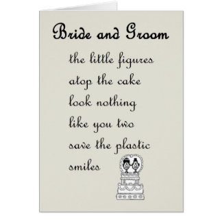 Wedding Poem Greeting Cards Zazzle