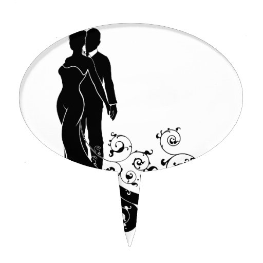 silhouette wedding cake stencil and groom abstract wedding silhouette design cake 19824