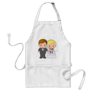 Bride and Groom Adult Apron