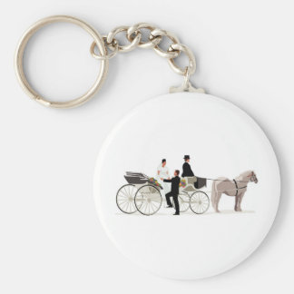 Bride and Groom and a Wedding Carriage Keychain