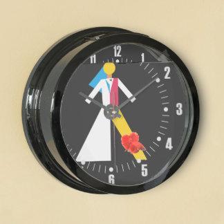 Bride and Groom Aquavista Clocks