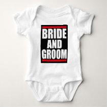 bride and groom baby bodysuit