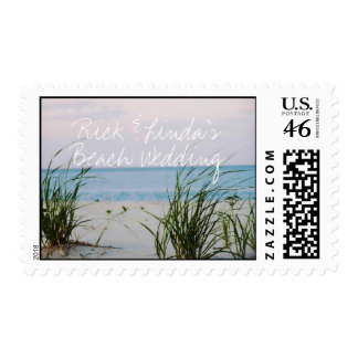 Bride and Groom Beach Wedding Postage