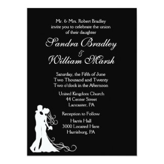 Bride and Groom Black and White Card