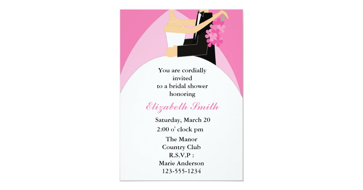 Bride And Groom Bridal Shower Invitations Zazzle Com