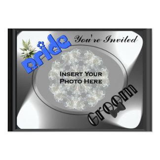 "Bride And Groom Bridal Wedding Shower Invitation 5"" X 7"" Invitation Card"