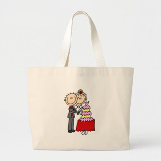 Bride And Groom By The Wedding Cake Bag