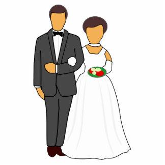 Bride and groom cartoon acrylic cut out