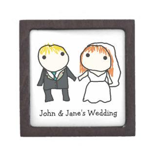 Bride and Groom Cartoon Wedding Gift Box