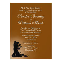 Bride and Groom Chocolate 6.5x8.75 Paper Invitation Card