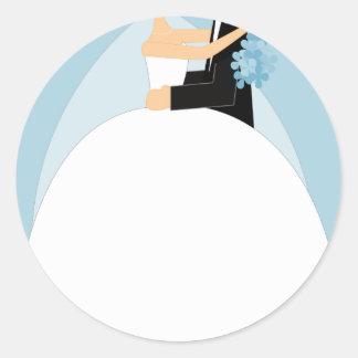 Bride and Groom Classic Round Sticker