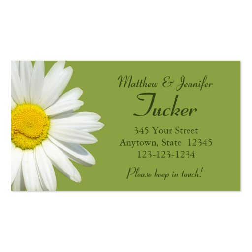 Bride and Groom Contact Information Card Business Card