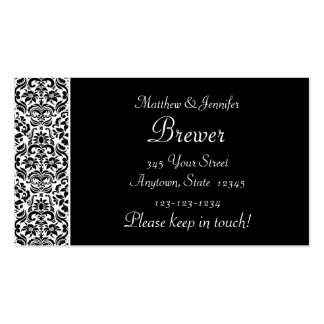 Bride and Groom Contact Information Card Business Card Templates