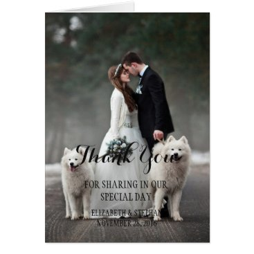 Bride Themed Bride and groom - couple christmas - white dogs card