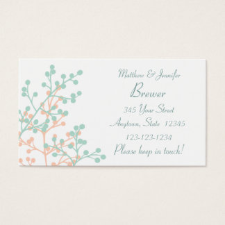 Bride and Groom Custom Change of Adress Card
