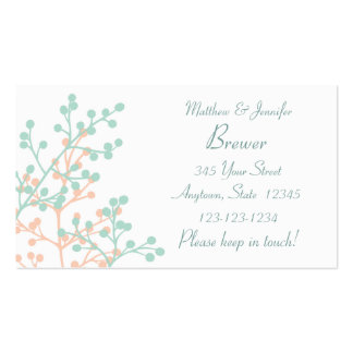 Bride and Groom Custom Change of Adress Card Business Card
