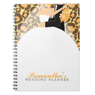 Bride and Groom Custom Wedding Planner {leopard} Note Book