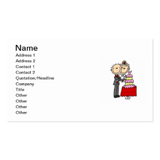 Bride and Groom Cut the Cake T-shirts and gifts Double-Sided Standard Business Cards (Pack Of 100)