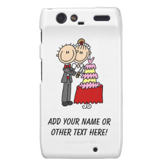 Bride and Groom Cut the Cake T-shirts and gifts Motorola Droid RAZR Cover