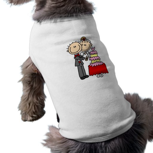 Bride and Groom Cut the Cake T-shirts and gifts Doggie Tee Shirt