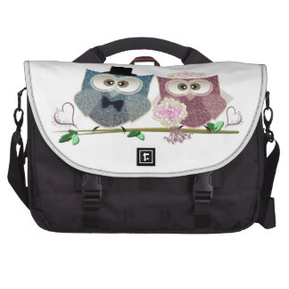 Bride and Groom cute Owls Art Bags For Laptop