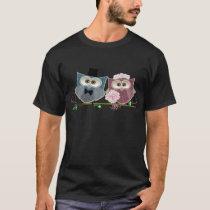 Bride and Groom cute Owls Art T-Shirt