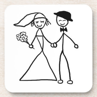 """""""Bride and Groom"""" design gifts and products Coaster"""