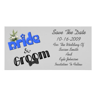 Bride And Groom Design Wedding Save The Date Card