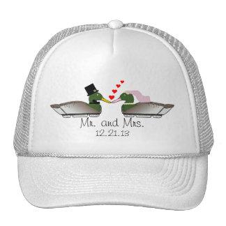 Bride and Groom Duck Decoys Trucker Hat